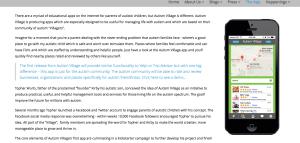Autism Village App Screenshot